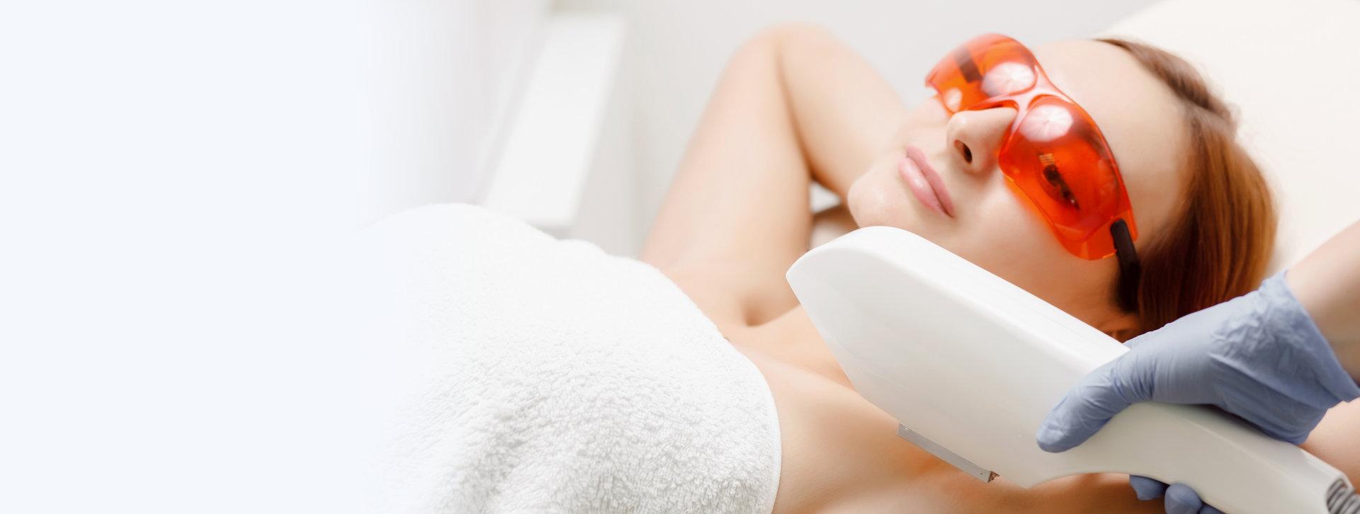 woman undergoing a beauty treatment